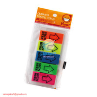 Memo Stick It Post It Note Warna Warni Panah Sign Here PRONTO Top