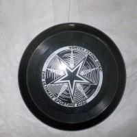 frisbee / piring terbang/ flying saucer disc hitam