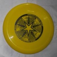 frisbee / piring terbang/ flying saucer disc kuning model B
