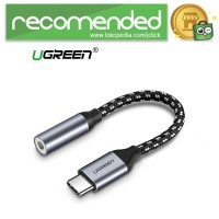UGREEN Kabel Adapter USB Type C to 3.5mm AUX Audio - Gray