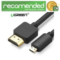 UGreen Kabel Adapter Micro HDMI to HDMI Male - Hitam - 1.5m