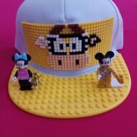 Topi lego model snapback bisa bongkar pasang dan pilih sesuai selera