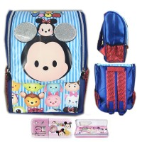Tas Ransel Sekolah TK Tsum Tsum Mickey Minnie 3D Jepang S Blue Red