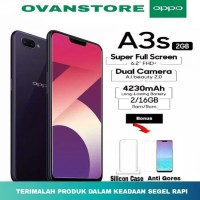 Hp [NEW] OPPO A3S Ram 2GB Internal 16GB - Merah- Ungu-Hitam GRS RESMI