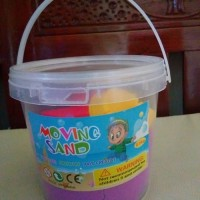 Mainan pasir pasiran ajaib kinetik moving sand 0.5kg warna ungu