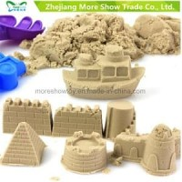 Mainan pasir pasiran ajaib kinetik moving sand 0.5kg warna hijau