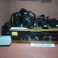 Kamera DSLR Nikon D60+FLash+Dus
