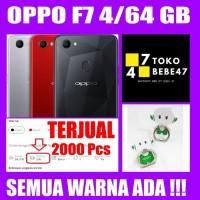 OPPO F7 RAM 4GB/64GB RED/SILVER/BLACK GARANSI RESMI hp handphone murah