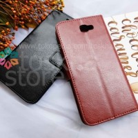 Wallet Case Samsung J7 Prime 2016 Premium Leather hp handphone murah