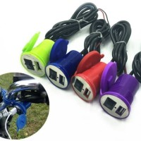 Casan Hp Di Motor ANTI AIR USB Charger Phone Handphone Chasan Carger