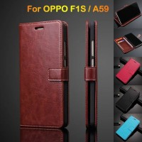 Flip Wallet OPPO F1S/A83/A71 Leather case full Cover 360 View Kulit HP