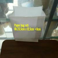 Paper bag/kantong kertas putih untuk roti, fried chicken, snack