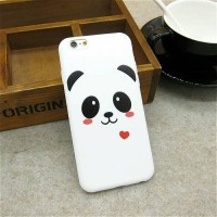 Casing HP Oppo F5 F7 Soft Case Panda Black White Hitam Putih