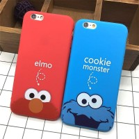 Casing HP Oppo F5 F7 Soft Case Elmo Red Blue Merah Biru Sesame Street