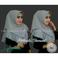 Jual jilbab instan mikhayla diamond kuning| original by danisha hijab pearl Murah