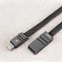 Remax Weave Kabel Charger Lightning - RC-081i - Black