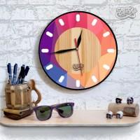 jam dinding VINTAGE kayu classic dengan design yang modern 30cm 6cbaee87cc
