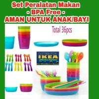 Jual SALE! SET LENGKAP PERLENGKAPAN MAKAN ANAK BPA FREE AMAN UTK BAYI IKEA Murah