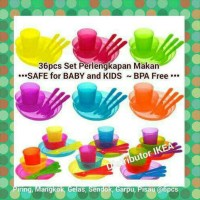 Jual NEW! SET LENGKAP PERLENGKAPAN MAKAN ANAK BPA FREE AMAN UTK BAYI IKEA Murah