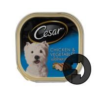 cesar 100 gr dog chicken and vegetables