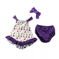 Pakaian Bayi Perempuan Baju & Sepatu Setelan Baby White Purple AHA1701