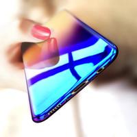 Hardcase Gradient Case Blue Aurora Casing Slim Cover HP Vivo Y55 Y55s