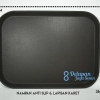 Nampan ANTI SLIP 46cm x 36cm (size L) | Nampan Makanan | Nampan Karet