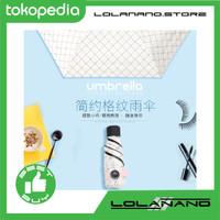 Payung Mini Anti UV dengan Felt Bag - White