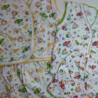 Setelan Pakaian Bayi Usia 0-3 Bulan Lengan Pendek Motif Lucu