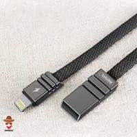 Remax Weave Kabel Charger Lightning - RC-081i - Hitam