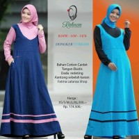 Gamis Kaos/Rahnem Gm 1424/Gamis Terbaru/Baju Wanita/Gamis Pesta/Dress
