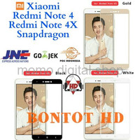 Xiaomi Redmi Note 4 4X Snapdragon Tempered Glass Color Full Layar HP