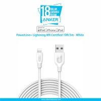 Anker PowerLine Lightning Mfi Certified 10ft/3m - White [A8123H21]