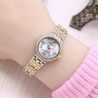 Jam Tangan Wanita / Cewek Rolex Ladies Star Rantai Kombinasi Gold