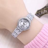 Jam Tangan Wanita / Cewek Rolex Ladies Star Rantai Silver White