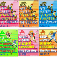 (PAKET) STEP BY STEP PIANO COURSE FUN WAY STEP 1 - 4 ,MASTER SERIES
