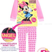 Harga piyama minnie mouse pajamas jw 69 with personalized name | Pembandingharga.com