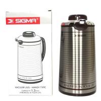 Sigma Termos Vacum Jug 1,3Liter -Silver Brown- Termos Tuang Air Panas