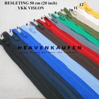Resleting Zipper YKK Vislon 50 cm / 20 inch Warna Warni
