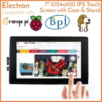 "Touch Screen 7"" LCD Raspberry Orange Banana Pi BeagleBone IPS w Case"