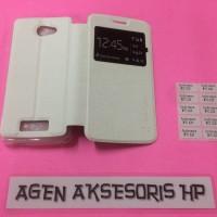 Case Flip Andromax E2 4G LTE Smartfren 4 5 inchi Sarung Buku HP Flip