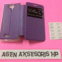 Case Flip Andromax E2 Plus Smartfren 4G LTE 4 5 inchi Sarung Buku HP