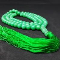 TASBIH BATU NATURAL GREEN JADE GIOK 99 BUTIR ORIGINAL