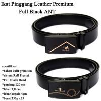 Ikat pinggang Pria Leather Premium Full Black ANT