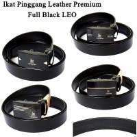 Ikat pinggang Pria Leather Premium Full Black LEO
