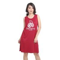 Lemone - Baju Dress Kaos Wanita Premium 619SS601225 Marun