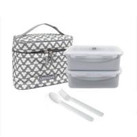 LOCK&LOCK Lunch Box 2P Set Clover Bag (HPL762CDS/HPL762CIS)