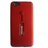 Myuser Tacooc Kick Stand Case 3in1 Plus Ring Samsung J8 2018 - Merah