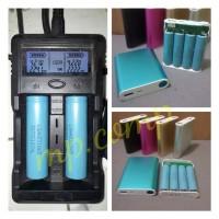 power bank rakitan 8000mah riel 4pcs baterai 18650 bekas laptop