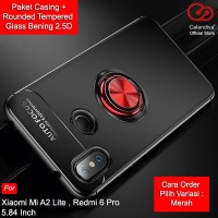 Calandiva Ultimate Ring Case for Xiaomi Mi A2 Lite, Redmi 6 Pro + TG
